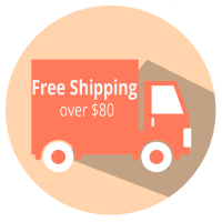 Enjoy convenience with free delivery for purchases above $80 using Australia Post standard posting within Australia and