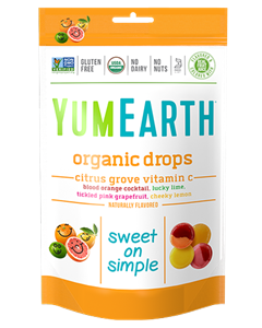 Picture of  Yummy Earth Organic Drops -Organic Citrus Grove Vitamin C Drops - 1 packet (93g)