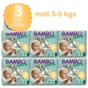 Picture of Bulk Buy Bambo Nature size 3 Midi (33x5-9kg) - Pack of 6