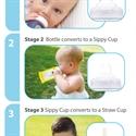 Cherub Baby Colour Change Glass Baby Bottles Wide Neck 240ml Twin Pack – Green