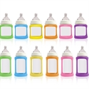 Cherub Baby Colour Change Glass Baby Bottles Wide Neck 240ml Twin Pack - Purple & Pink