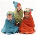 Breganwood Organics Woodland Collection Kids Organic Hooded Towel Funny Bird  69cmx114cm