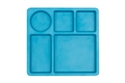 bobo&boo individual divided plate in dolphin blue