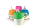 Cherub Baby Clip 'N Sip Universal Straw Spout & Teat Silicone Stretch Lid Twin Pack – Blue & Green