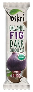 Picture of Oskri Organic Fig Dark Chocolate Fruit Bar -  Gluten Free 45g