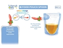 Cherub Baby Universal Food Pouch Spoons 2 pack – Pink Orange