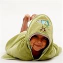 Breganwood Organics Baby & Toddler Hooded Towel: Rainforest Collection - Funny Bird
