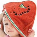Breganwood Organics Baby & Toddler Hooded Towel: Rainforest Collection - Happy Lemur