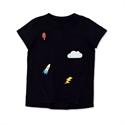 Andie Sky's the Limit Black shorts & T-shirt Set