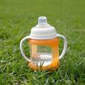 Cherub Baby Colour Change Glass Baby Bottles Wide Neck 150ml Twin – Orange