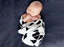 HeyBaby Bamboo Swaddle Wrap -GEO JET!