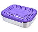 Lunchbots Purple Dots Lunchboxes - Medium Uno Compartment