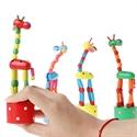 Giraffe Wood Pop Toy
