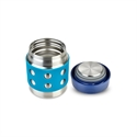 Lunchbots Stainless steel insulated Food Container dots Aqua 8oz/235ml