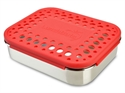 Lunchbots Red Dots Stainless Steel Lunchboxes - Medium Trio Compartments