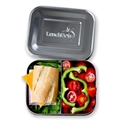 Lunchbots Pink Dots Stainless Steel Lunchboxes - Medium Duo Compartments