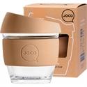 JOCO Reusable Glass Cup 236ml(8oz) Butterum