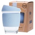 JOCO Reusable Glass Cup 354ml Vintage Blue