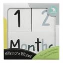 Picture of All4Ella - Milestone Blocks Black (White)