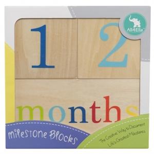 Picture of All4Ella - Milestone Blocks Neutral (Wood)