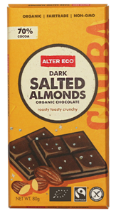 Picture of Alter Eco, Organic Chocolate, Dark Salted Almonds, 2.82 oz (80g)