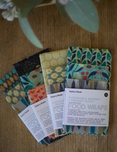 Picture of Apiary Made Sustainable Beeswax Food Wraps - Assorted 3 pack