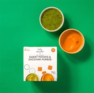 Picture of Baby Bistro Sweet Potato & Zucchini Puree 8 x 45g (360 NET) – Suitable for 4-8 months+