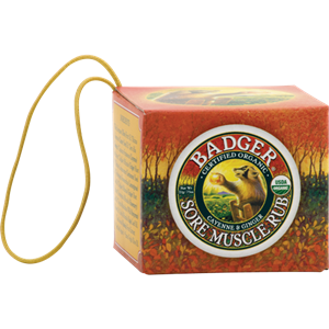 Picture of Badger Balm Sore Muscle Rub Ornament 21gm tin
