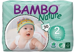 Picture of Bambo Nature size 2 Mini (30x3-6kg)