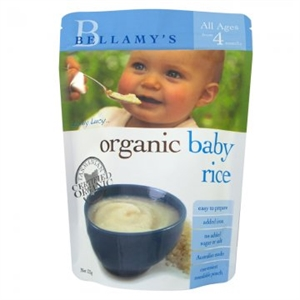 Picture of Bellamy's Organic Baby Rice (4+ months) 125gm