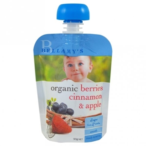 Picture of Bellamy's Organic Berries Cinnamon & Apple Ready To Eat Meal (6x90gm)