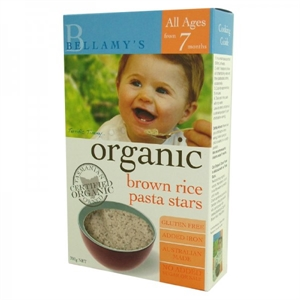 Picture of Bellamy's Organic Brown Rice Pasta Stars 200gm