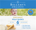 Picture of Bellamy's Organic Milk Rusks (6+ months) 100gm