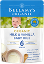 Picture of Bellamy's Organic Milk & Vanilla Baby Rice 125g