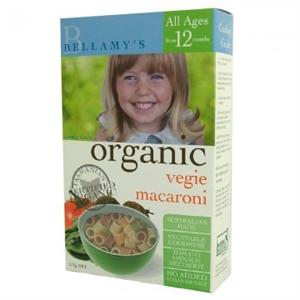 Picture of Bellamy's Organic Pasta Veggie Macaroni 175gm