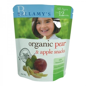 Picture of Bellamy's Organic Pear & Apple Snacks (12+ months) 20gm