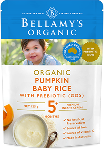Picture of Bellamy's Organic Pumpkin Baby Rice(5+ months) 125gm