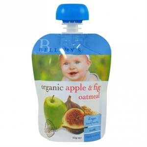Picture of Bellamy's Organic  Ready To Eat Meal Apple & Fig Oatmeal (6x90gm)