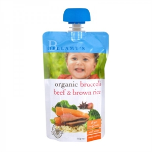 Picture of Bellamy's Organic Ready To Eat Meal Broccoli beef & Brown Rice (6x110gm)