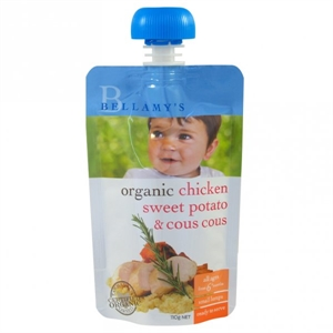 Picture of Bellamy's Organic  Ready To Eat Meal Chicken Sweet Potato & Cous Cous (6x110gm)