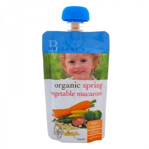 Picture of Bellamy's Organic Ready To Eat Meal Spring Vegetable Macaroni (6x110gm)