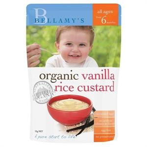Picture of Bellamy's Organic Vanilla Rice Custard 125gm