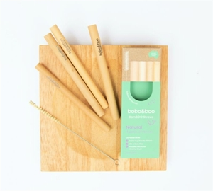 Picture of Bobo&boo Bamboo Reusable Straws 4 Pack