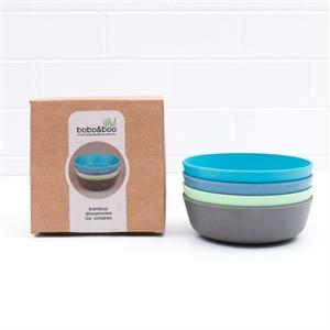 Picture of Bobo&boo bamboo bowl set – Coastal 4pk