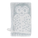 Picture of Breganwood Organics Prairie Collection  Bath Mitt  Grey Owl Jacquard 13cmx20cm
