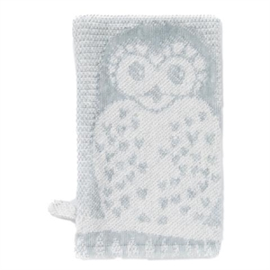 Picture of Breganwood Organics Prairie Collection  Bath Mitt  Grey Owl Jacquard 13cmx20cm
