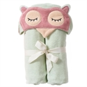 Picture of Breganwood Organics Woodland Collection Kids Organic Hooded Towel Sleepy Owl  69cmx114cm