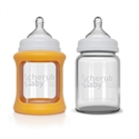 Picture of Cherub Baby Colour Change Glass Baby Bottles Wide Neck 150ml Twin – Orange