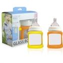 Picture of Cherub Baby Colour Change Glass Baby Bottles Wide Neck 150ml Twin – Orange & Yellow