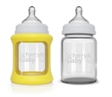 Picture of Cherub Baby Colour Change Glass Baby Bottles Wide Neck 150ml Twin – Yellow